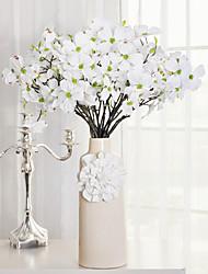 1 1 Une succursale Plastique Cerisier du Japon Fleur de Table Fleurs artificielles 27.5inch/70cm