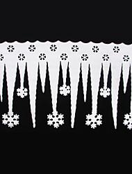 franja de hielo 2 piezas blanco con el copo de nieve del partido de Navidad Navidad decoración de ornamento del festival decoración de