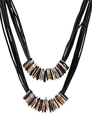 Necklace Pendant Necklaces / Layered Necklaces Jewelry Wedding / Party / Daily / Casual / Sports Sexy / Fashion Alloy / LeatherGold /