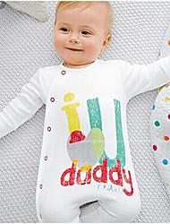 малыш Блуза-На каждый день,С принтом,Хлопок,Зима / Весна / Осень-Белый