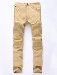 De las mujeres Pantalones Delgado / Chinos-Simple Elástico-Algodón