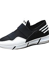 Men's Sneakers Spring / Fall Comfort PU Casual Flat Heel Slip-on Black / Blue / Black and White Sneaker