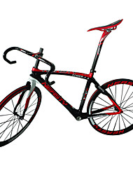 NEASTY Carbon Fiber Road Bike Framesets Frame/Wheelset/Seat Post/Saddle/Handlebar/Headset with Red White Color