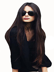 Fashion Style Long Straight Hair Brown Color Synthetic Wigs for Women