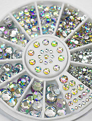 Mixed Sizes White Crystal Nail Art Rhinestones Acrylic AB Jewelry Shining Manicure Design