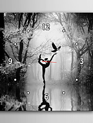 E-HOME® People Who Dance on Water Clock in Canvas 1pcs