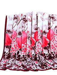 Bedtoppings Blanket Flannel Coral Fleece Queen Size 200x230cm Prints Thick 310GSM