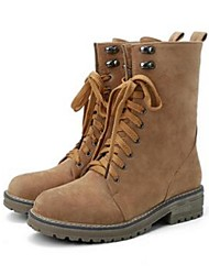 Women's Boots Comfort Leatherette Casual Brown / Khaki
