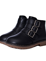 Boys Grils Boots Spring / Summer / Fall / Winter Bootie / Comfort Leather / Leatherette Outdoor / Casual ZipperBlack /