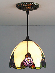 25W Pendant Light ,  Traditional/Classic / Tiffany Painting Feature for Mini Style Glass Bedroom / Entry
