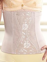 Women's Underbust Corset Nightwear Sexy Jacquard Nylon Beige