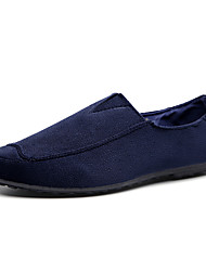 Men's Loafers & Slip-Ons Spring / Fall Comfort Fabric Casual Flat Heel Slip-on Black / Blue Sneaker