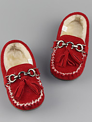 Girl's Loafers & Slip-Ons Comfort Suede Casual Red / Gray / Khaki