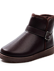 Men's Boots Spring Fall Winter Comfort PU Outdoor Office & Career Casual Flat Heel Black Coffee