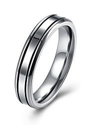 Design Silver Color Romantic 4mm/6mm Band Stainless Steel Wedding Rings For Couples Fashion Womens Ring