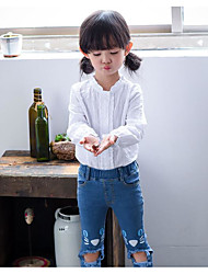 Girl's Casual/Daily Solid ShirtCotton Spring / Fall Pink / White