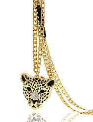 Necklace Rhinestone Pendant Necklaces Jewelry Wedding / Party / Daily / Casual Animal Design Alloy Gold 1pc Gift