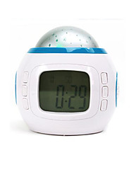 Colorful Music Star Projection Electronic Alarm Clock