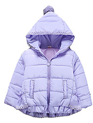 Girl's Going out Solid Down & Cotton PaddedCotton Winter Pink / Purple / Red