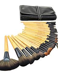 32pcs Blush Brush / Eyeshadow Brush / Brow Brush / Eyeliner Brush Others Professional / Travel / Full Coverage Wood Others