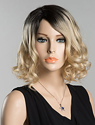 Elegant Fashion Curly Human Hair Wigs For  Women