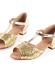 Customizable Women's Dance Shoes Sparkling Glitter Sparkling Glitter Latin / Jazz / Modern / Salsa Heels Low HeelPractice / Beginner /