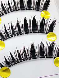 Eyelashes lash Full Strip Lashes Eyes Thick Lifted lashes Handmade Fiber Transparent Band 0.10mm 11mm