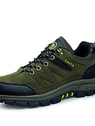 Зеленый / Серый / Хаки-Мужской-Для прогулок / Для занятий спортом-Замша-На плоской подошве-Удобная обувь-Спортивная обувь