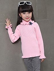 Girl's Casual/Daily Solid Sweater & CardiganWool Winter / Spring / Fall Pink / Gray