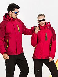 Wandern Softshell Jacken Unisex Wasserdicht / Atmungsaktiv / warm halten / tragbar Herbst / Winter Terylen Grün / Rot / Blau / PurpurM /