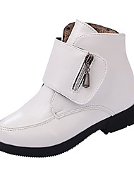 Girl's Boots Spring / Fall / Winter Bootie / Comfort Suede Outdoor / Casual Zipper Black / Red / White Walking