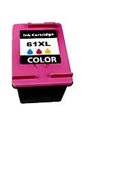 la couleur des notes 13.5ml cartouches d'encre compatibles hp61xl