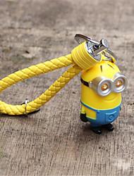 Light - Emitting Small Yellow Car Key Ring Chain