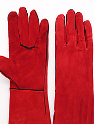 2A High-Quality Two-Storey Leather Double-Layer Red Hanging Long Welding Gloves