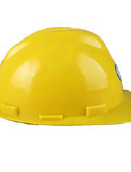 casco de v-construcción de plástico (amarillo)