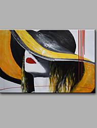 Ручная роспись Абстракция / Абстрактные портреты Картины маслом,Modern 1 панель Холст Hang-роспись маслом For Украшение дома