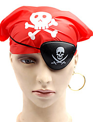 1PC Halloween Party Decor Gift Novelty Terrorist Ornaments Cosplay Eye Mask  Scarf  Earrings