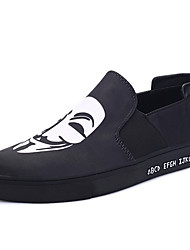 Men's Flats Fall Winter Comfort Canvas Casual Flat Heel Lace-up Black Blue Gold Black and White