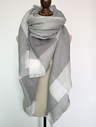 Women Polyester Scarf,Casual SquareGeometric