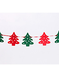 Flags 2.2 M Felt Elk Christmas Garland Banner Flag Christmas Decorations Christmas Window Decoration Party Props
