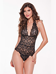 Women Sexy Babydoll Ultra Sexy Nightwear Lace Lingerie Solid-Thin Teddy Nightgown