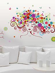Mode / Floral / Personnes Stickers muraux Stickers avion Stickers muraux décoratifs,PVC Matériel Amovible Décoration d'intérieurWall