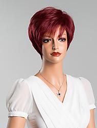 nova chegada única curto sem tampa reta perucas de cabelo humano 8 inchs