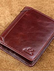 Men Wallet PU Casual Outdoor Black Brown