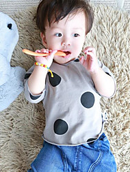 Baby Polka Dot Blouse-Cotton-Spring / Fall-White / Gray
