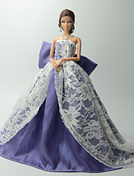 Party & Evening Dresses For Barbie Doll Purple / White Dresses