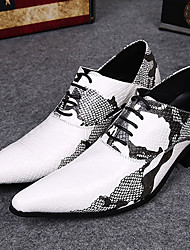 Men's Oxfords Comfort Leather Party & Evening White