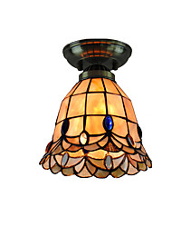 18cm Retro Tiffany Ceiling Lamp Glass Shade Flush Mount Living Room Bedroom Dining Room Kids Room light Fixture