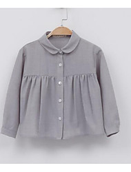 Girl's Casual/Daily Solid ShirtPolyester Fall Gray