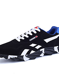 Men's Sneakers Spring / Summer / Fall / Winter Mary Jane PU / Fabric AthleticSplit Joint / Lace-up Black / Blue / Red